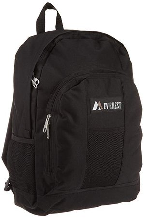 Amazon.com | Everest Luggage Backpack with Front and Side Pockets, Black, Large | Backpacks