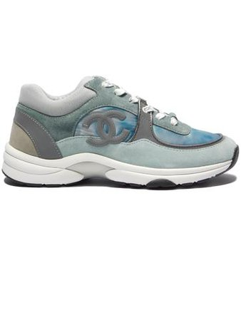 Chanel CC Grey/blue Marble Reflective Sneaker– Aztec Clothing