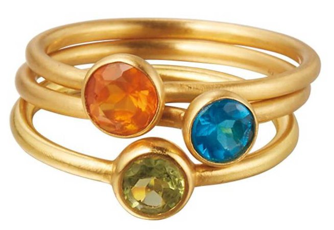 colorefull gold ring