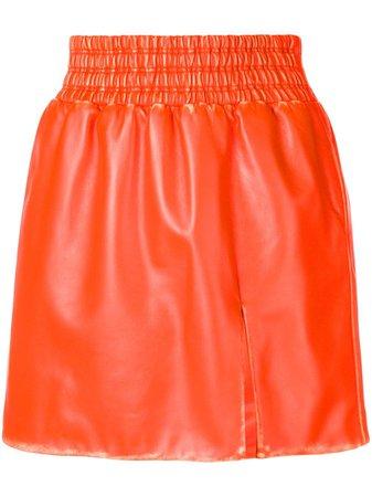 Miu Miu leather flared mini skirt - FARFETCH