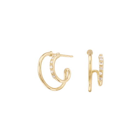 Sapphire Twin Hoops | Mejuri