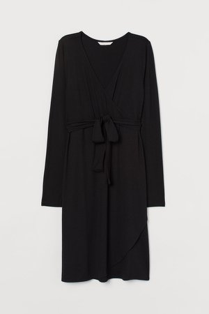 MAMA Wrap Dress - Black
