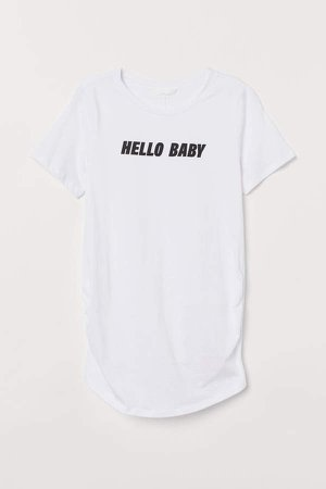 MAMA Cotton T-shirt - White