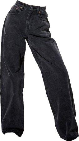 black baggy jeans