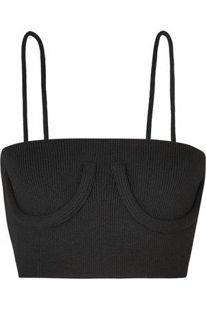 Orseund Iris | Cropped stretch-jersey corset top | NET-A-PORTER.COM