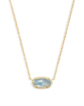 Elisa Gold Pendant Necklace in Light Blue | Kendra Scott