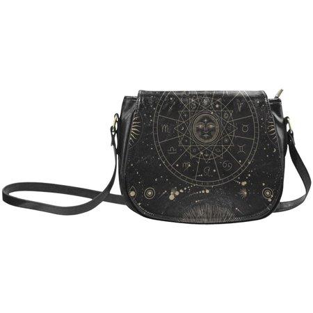 Boho astrology Vegan leather Goth saddle bag celestial witchy   Etsy