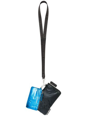 Karl Lagerfeld lanyard-strap pouches black & blue 210W3014930 - Farfetch