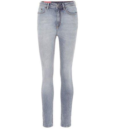 Blå Konst Peg high-rise skinny jeans