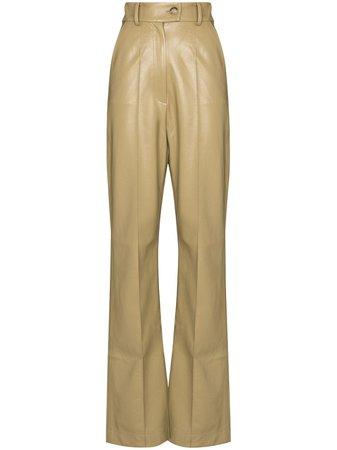 Materiel high-rise faux-leather Trousers - Farfetch