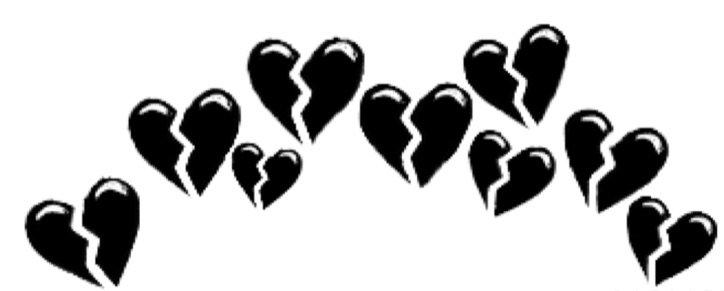 Broken black hearts