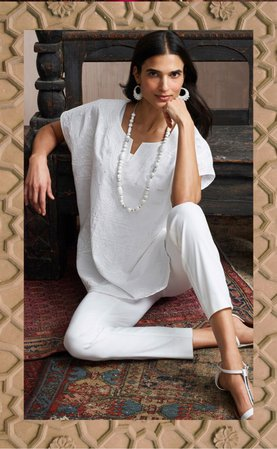 Chico's white outfit - April 2020 catalog
