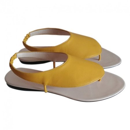 Ravello Yellow Leather Sandals