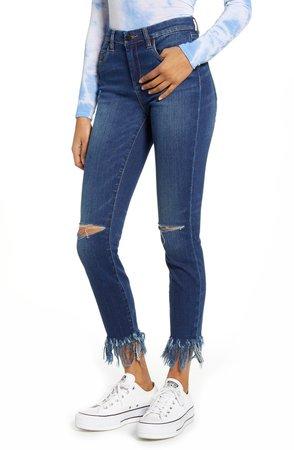 The Bond Ripped Fray Hem Skinny Jeans