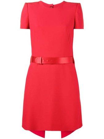 Red Alexander Mcqueen Short Sleeve Mini Dress   Farfetch.com