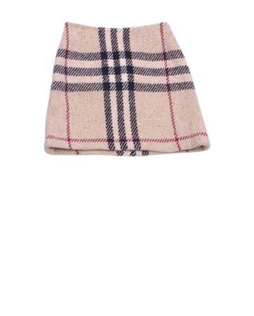Burberry wool mini skirt