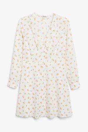 Long sleeve mini dress - Floral - Mini dresses - Monki WW