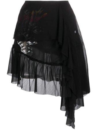 Diesel Layered Georgette Skirt - Farfetch