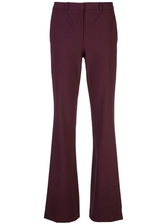 Theory Flared Style Trousers - Farfetch