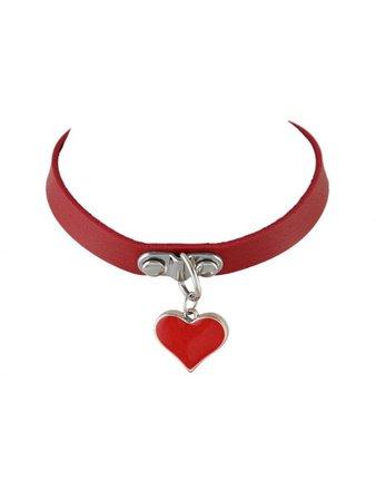 red heart chocker