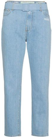 Mid Rise Denim Cropped Jeans