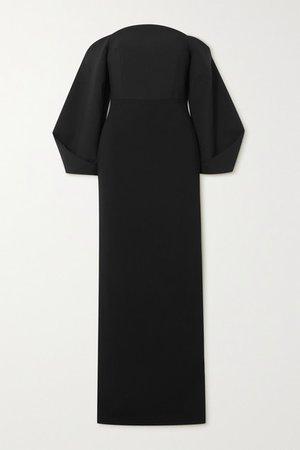 Lotta Off-the-shoulder Stretch-crepe Gown - Black