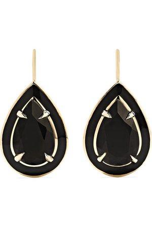 Alison Lou | 14-karat gold and enamel onyx earrings | NET-A-PORTER.COM