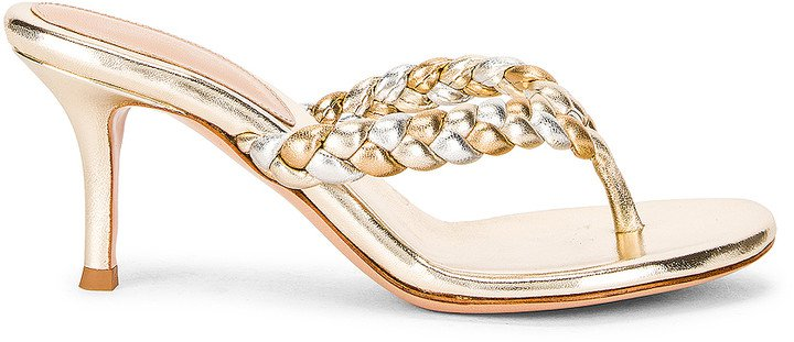 Braid Thong Sandals in Platino & Mekong | FWRD