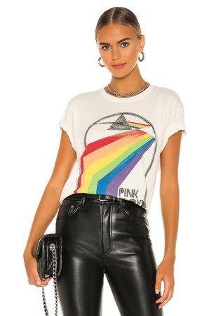 DAYDREAMER Pink Floyd Retro Rainbow Tour Tee in Stone Vintage | REVOLVE