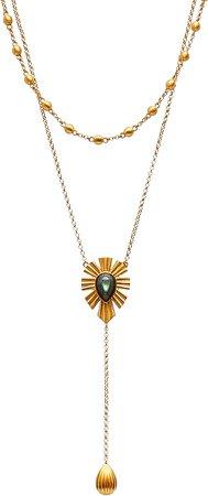 Christina Greene Unique Mystique Layered Y-Necklace