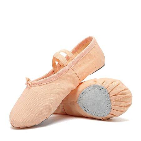 Amazon.com | CIOR Ballet Slippers Canvas Dance Shoes Gymnastics Yoga Flats(Toddler/Little/Big Kid/Women) | Dance