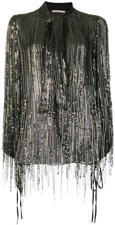 AMEN fringed sequin blouse