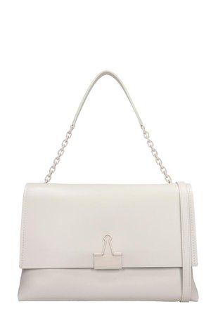 Off-White Tote In White Leather