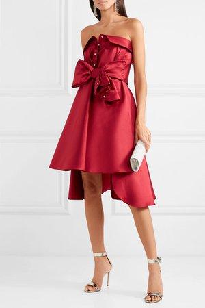 Alexis Mabille   Tie-detailed faille mini dress   NET-A-PORTER.COM