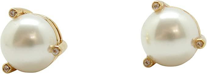 Amazon.com: Kate Spade New York Rise and Shine Stud Earrings Cream Multi: Clothing