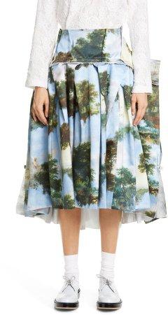 Print Asymmetrical Skirt