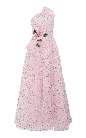 Strapless Glitter Dot Tulle Dress by Rodarte | Moda Operandi