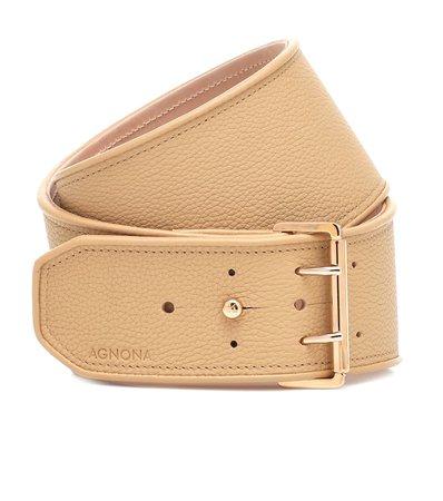 Leather Belt - Agnona | Mytheresa
