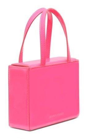 Super Amini Giorgia Patent Leather Top Handle Bag By Amina Muaddi | Moda Operandi