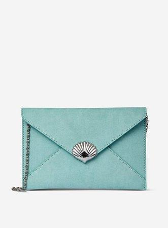 Blue Shell Clutch Bag | Dorothy Perkins