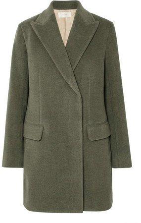 Mewey Wool-blend Twill Coat - Green