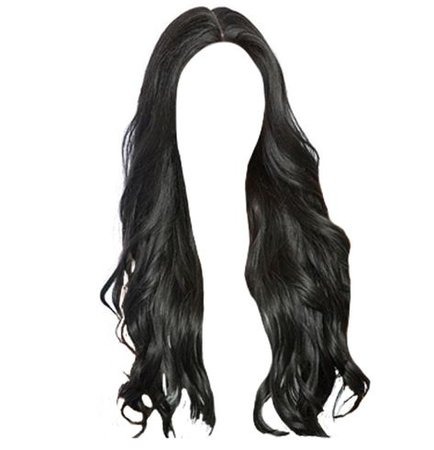 long black hair png