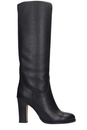 Julie Dee High Heels Boots In Black Leather