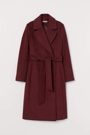 Wool-blend Coat - Red