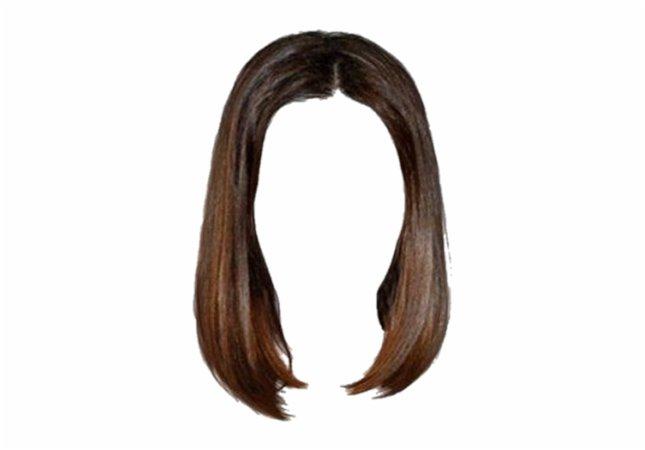 png aesthetic short brown hair
