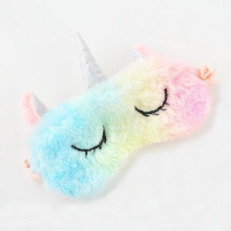 unicorn sleep mask in sherbert