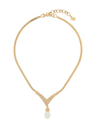 Christian Dior, teradrop necklace