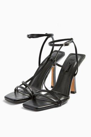 IDOL RITZ Black Strap High Heels   Topshop