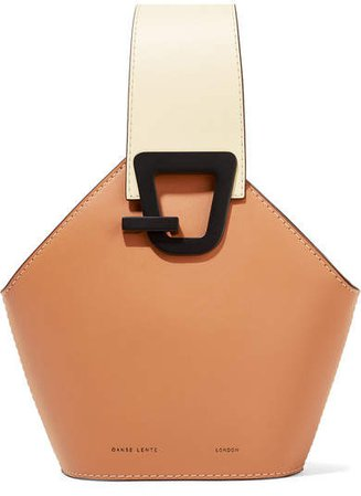 Johnny Mini Leather Bucket Bag - Tan