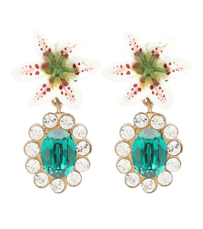 Embellished Floral Clip-On Earrings - Dolce & Gabbana | Mytheresa